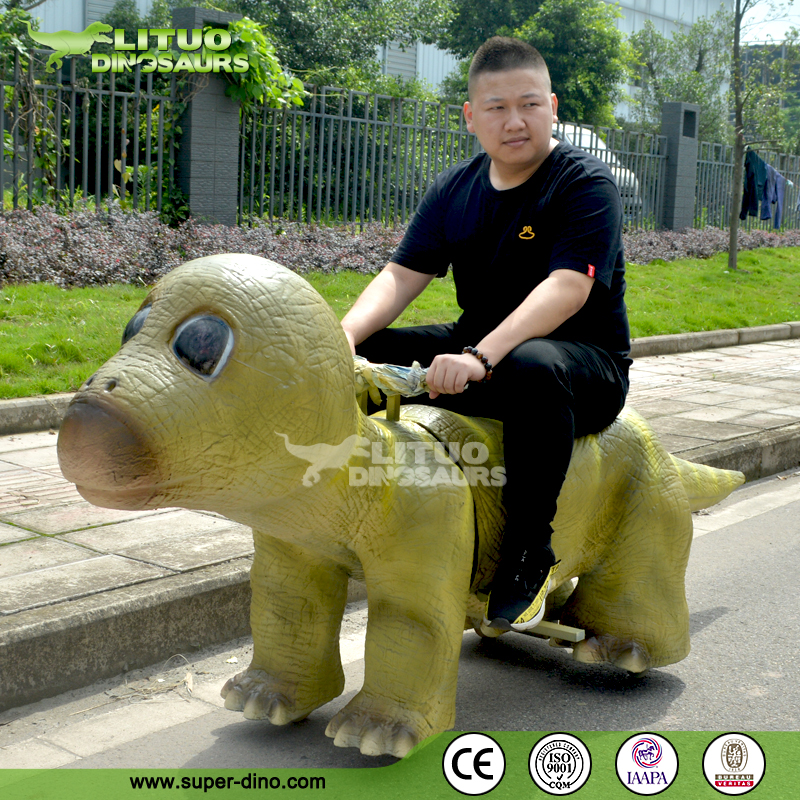 Battery Coin Operated Cartoon Electric Dinosaur Ride