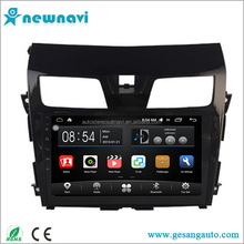 10.2 inch capacitive touch screen best price car dvd for Nissan Teana 2013 with bluetooth gps navigation