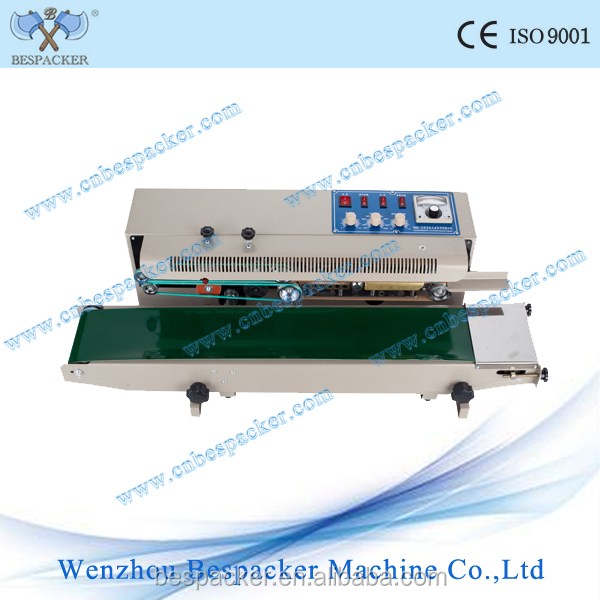 Automatic continuous poly bag sealing machine plastic bag heat sealing machine continuous sealing machine with print date