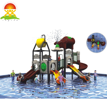 Outdoor pool water playground plastic slide