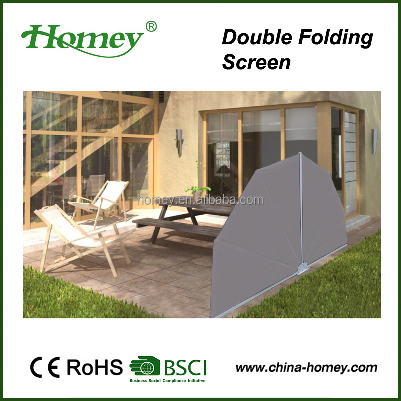 aluminum double sides retractable awning balcony privacy screen