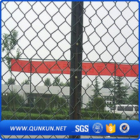 Trade assurance and low price green coated chain link fence