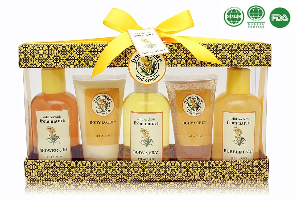 Christmas bath spa gift set beauty cage design with shower gel body lotion