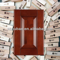 China display coffee glazing solid wooden kitchen cabinet doors for sale