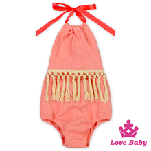 New Arrive Baby Tassel Romper Pictures Of Girls Wearing Jumpsuit Latest Embroidery Designs Punjabi Suits