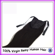 "Large Stock 8""-34"" Top Quality Double Weft No Shedding Claw Clip Ponytail Human Hair Extension"
