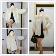 Lady's Fashion Sunshine Color Fox Fur Long Garment/Scheduled Style