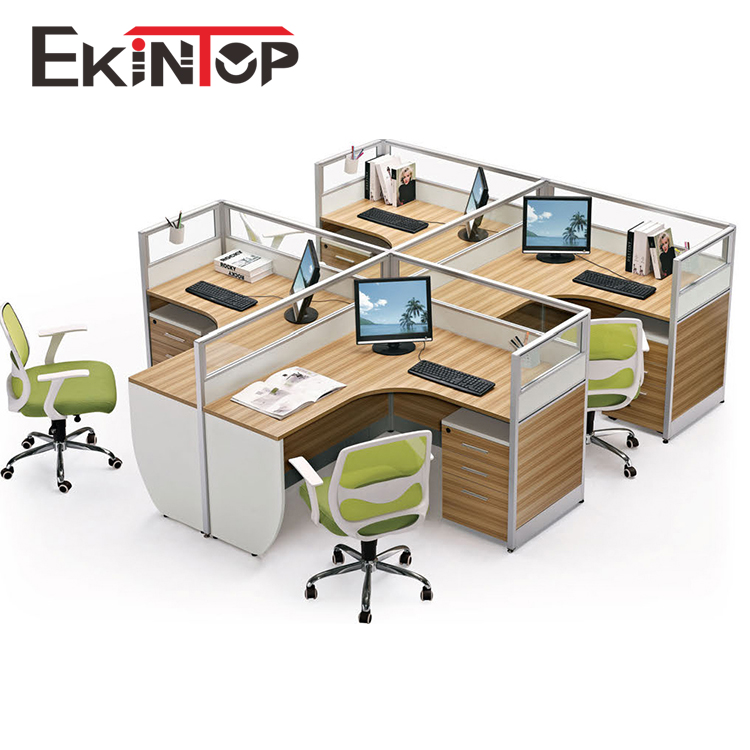 Ekintop modern office furniture 4 person call center office workstation