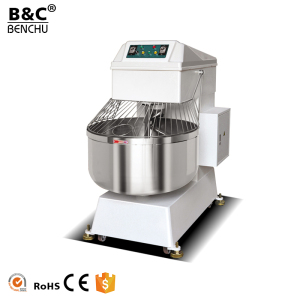 Stainless Steel Electric Kitchen Mixer Dough Kneading Machine / Double Speed Commercial Spiral Dough Mixer