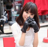 Women PU Coated Leather Work Gloves