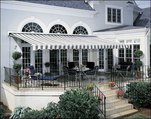 Polyester Fabric Retractable Manual Awning