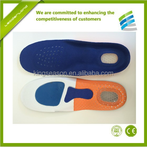 Arch support molded EVA foam orthotic insole for shoe