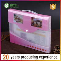 Waterproof office A4 pp plastic box file folder with custom logo printing