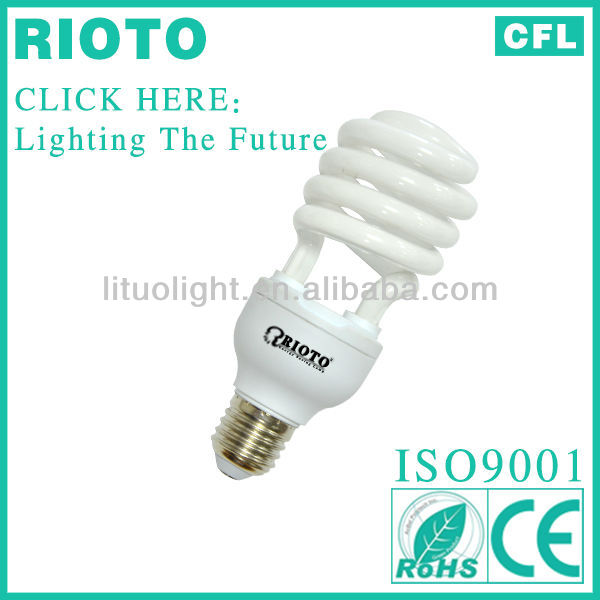 Energy Saving bulb- Half Full Spiral (CE ROHS )made in china compact fluorescent lamp 26w ligth e27 b22