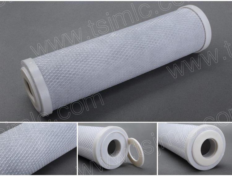 Industrial 5 micron Activated Carbon Block Filter Cartridge for beer / wine purification with high particles removal efficiency