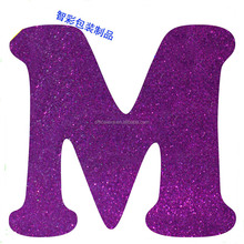 Customized children EVA foam glitter letters alphabet magnetic eva magnetic letter for kids learning