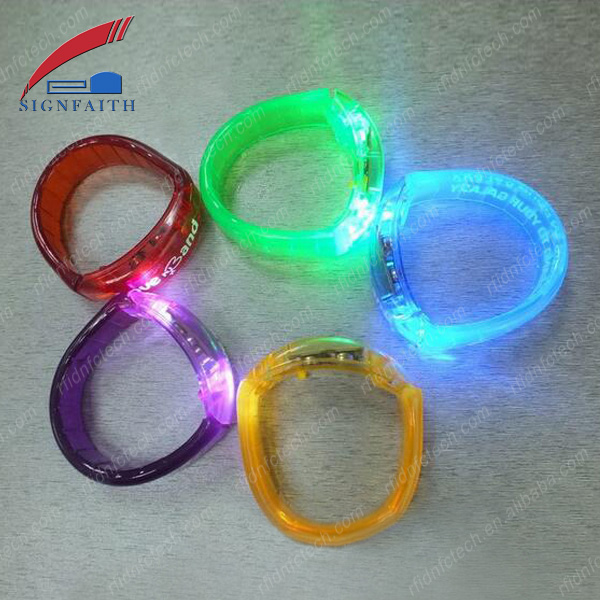 Code Chip Bracelet NFC LED Silicon Wristband With Chip 1K S50