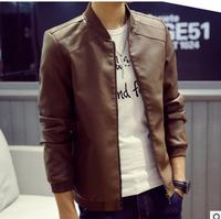 MS70368G 2016 latest fashion PU leather design men's slim fit jacket