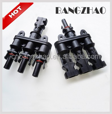 DC1000V MC4 male and female Y- branch connector for photovoltaic system