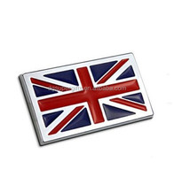 Metal United kingdom British flag car sticker badge metal England flag auto logo