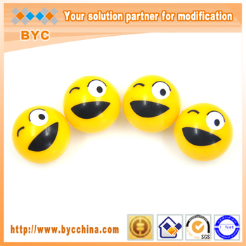 BYC Guangzhou Auto Accessories Market Smile Face ABS Plastic Tire Cap
