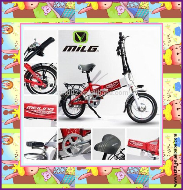 Lovely model folding electric motorcycle 36V250W
