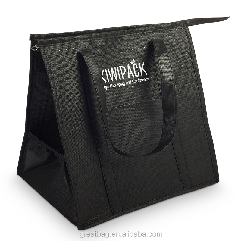 Large capacity waterproof Insulated cooler tote zipper bag
