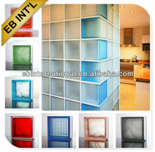 China EB best prices 190x190x80mm Colored and Clear Glass Block / Glass Brick