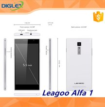Leagoo Alfa1 3G Mobilephone Android 5.1 MTK6580 Quad Core 1.3GHz 2GB + 16GB 5.5'' 1280 *720 Pixel 5/13.0MP Android Smartphone