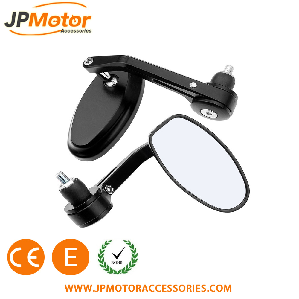 JPMotor Motorcycle Rear View Mirror Aluminum Side Mirror Motorcycle Bar End Mirror Motorcycles