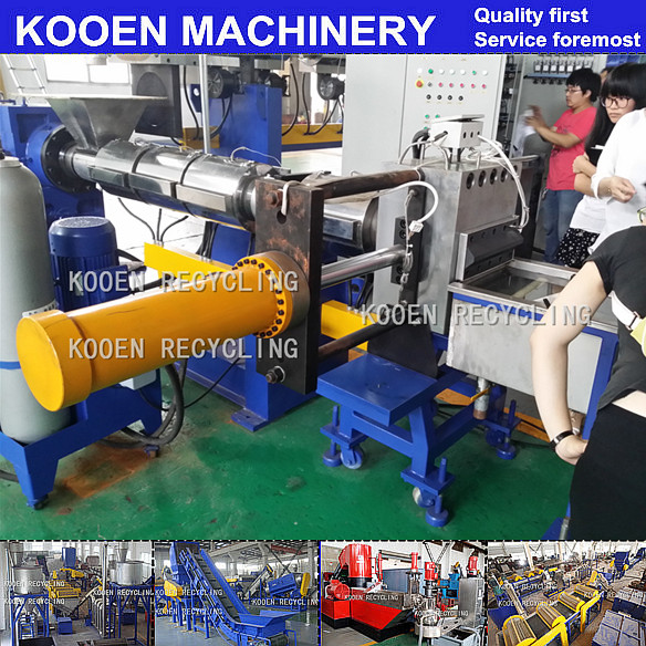 KOOEN Agglomerating/Compacting Pelleziting Machine For PE PP Film