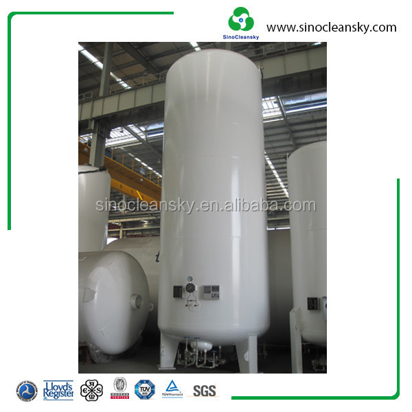 5 M3 Cryogenic Liquid Oxygen tank , Nitrogen Gas Storage Tanks
