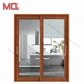 interior double glass soundproof sliding door for living room