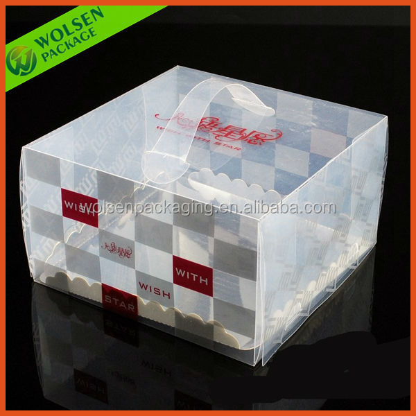 Customized clear plastic cupcake boxes packaging