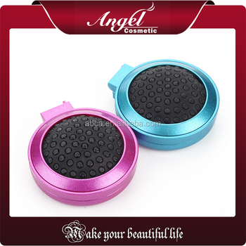 Travel hair brush with mirror sets round mini foldable Hair Brush with Mirror Pocket Size Comb