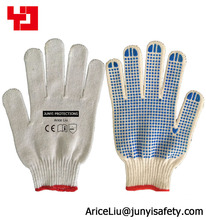 cheap rubber grip dots cotton work glove