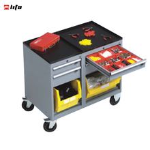 Metal Workshop tool trolley Roller Cabinet With Drawers