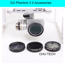 Accessories For DJI Phantom 3 4 ND4 / ND8 / MCUV / CPL HD Lens Filter For Phantom 4 Phantom 3 Professional & Advanced & Standard