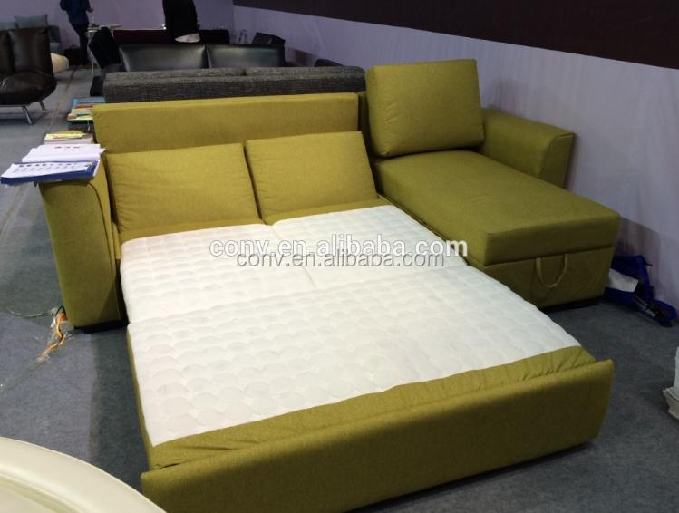 Tela sof cama esquina con stroage sof s para la sala de for Sofa cama inflable