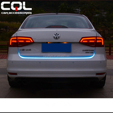CQL 47 Inches Flexible LED Tail Light Bar Turn Signal Brake Red/Ice Blue For Car Trunk Lamp/new car flashing led brake light