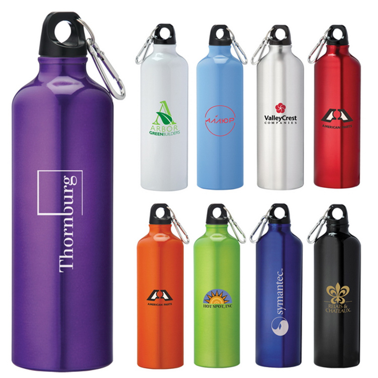 Wholesale custom logo printing metal aluminum bike sports water bottle