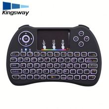 Hot 92 keys portable wireless keyboard H9 for Android smart tv the keyboard Colorful backlight function