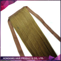 100% human hair ponytail claw clip ponytail human hair extension