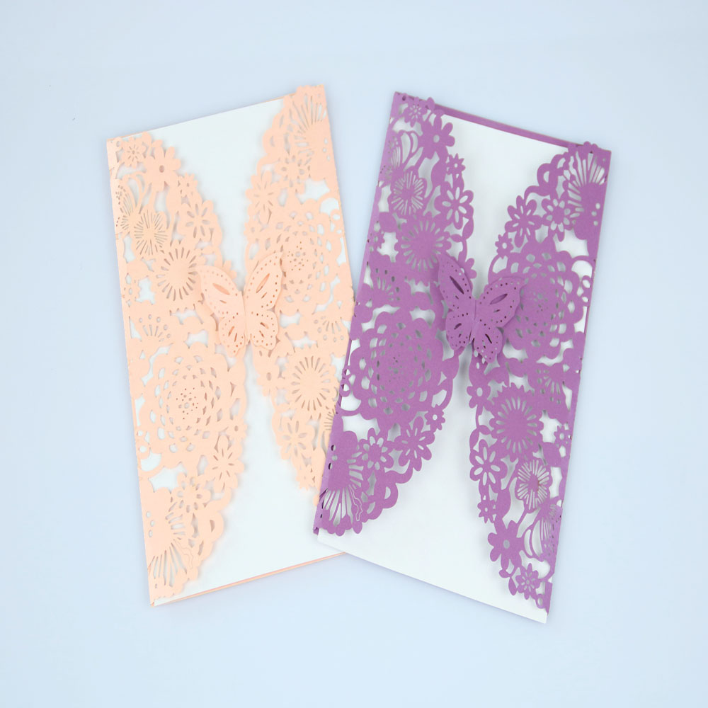 New arrival laser cut wedding card invitation for sale