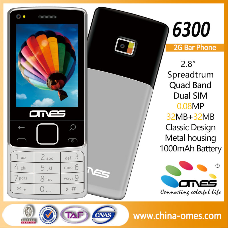 6300 OEM ODM 2G GSM 2.8 inch mobile phone