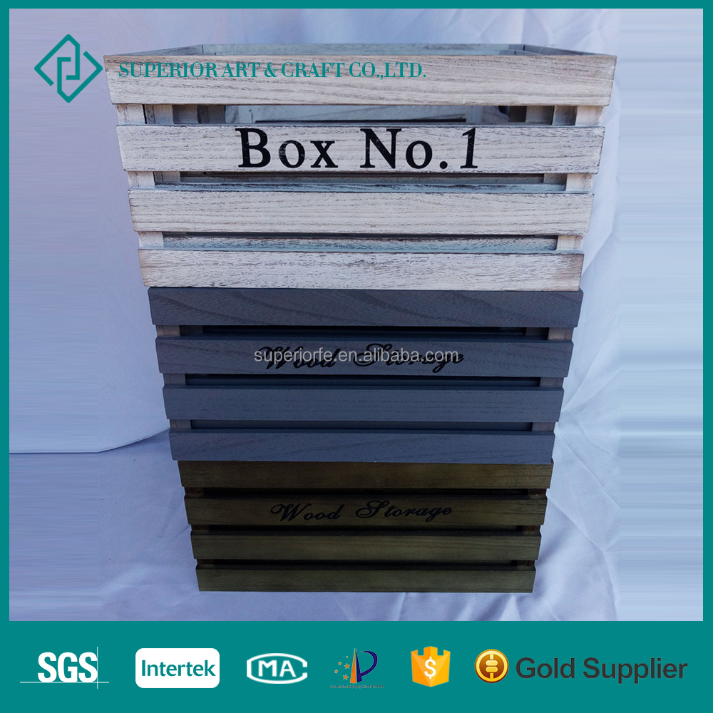 Unfinished Wood Orange Crate Box Wholesale