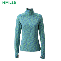 Half Zipper Gym Wear Anti Bacterial