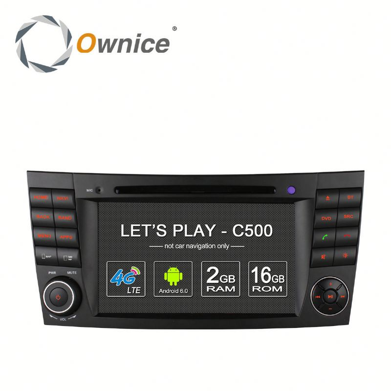 Ownice 4 Core Android 6.0 multifunction car DVD for Mercedes Benz E200 support TV OBD DAB GPS NAVI RADIO Built 4G LTE