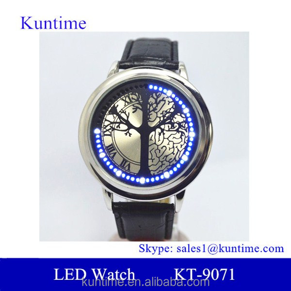 mens sport watches 2013 best selling led leather bracelet wrist watches for men