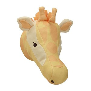 Stuffed PU material giraffe animal head wall decoration
